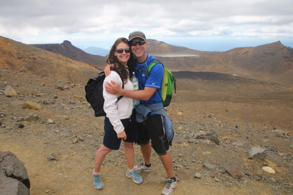 Cute couple on Mt. Tongariro