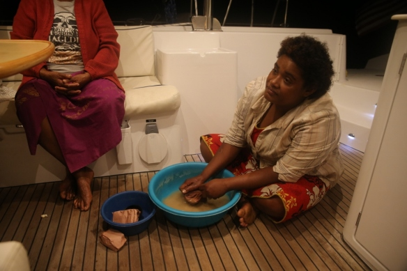 """""""Kava girl"""" served low tide, high tide and tsunami pours of grog."""
