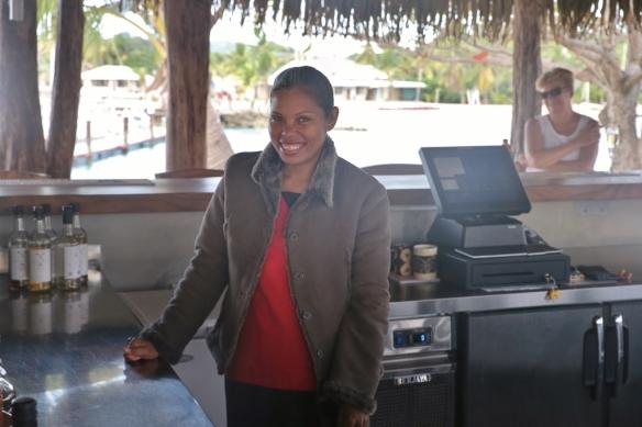 The lovely Va, our favorite bartender.