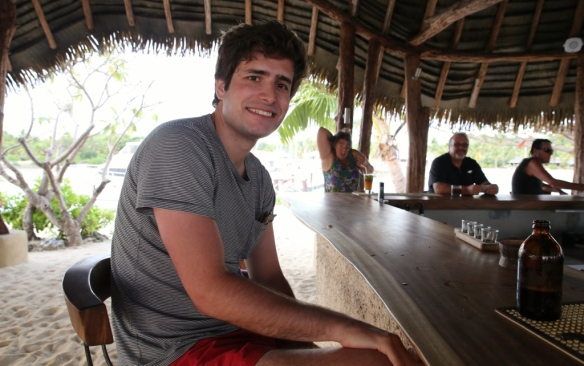 Relaxing at the new Island Bar.