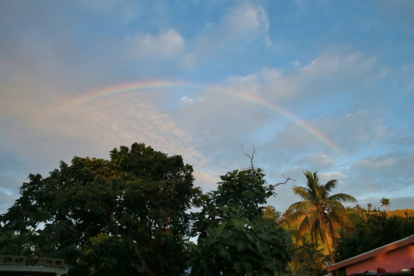 Rainbow over Yanuya.